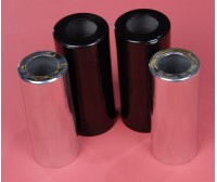 Front Shock Covers Aluminum Black